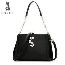 FOXER Shoulder Messenger crossbody long strap Bags Fashion Ladies Metal Chain handle HandbagBags
