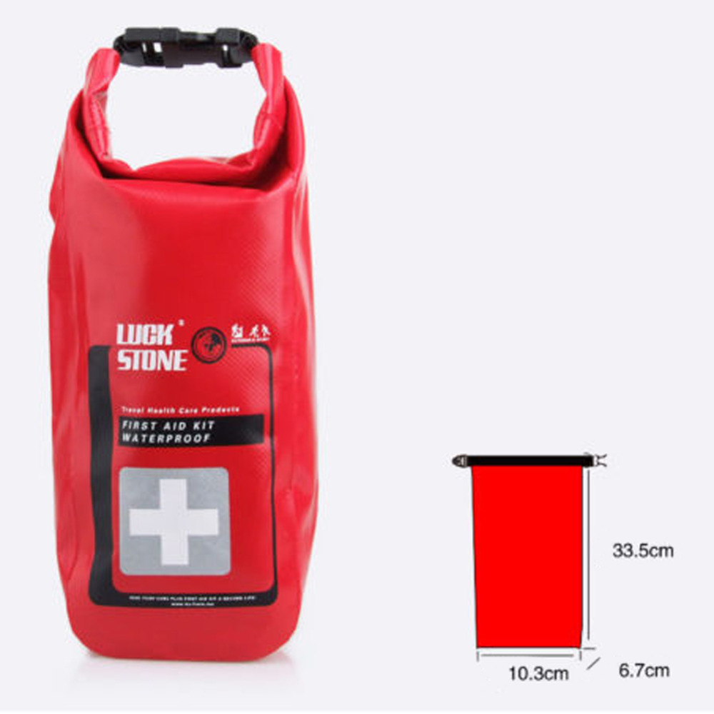 Red Waterproof 2L First Aid Bag...