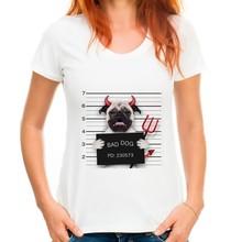 Bad Dog Be Arrested Funny T-Shirt
