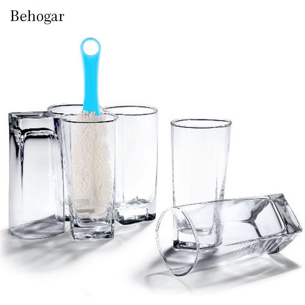 Behogar Hanging Long Handle Wine Decanter Bottle Cleaning Sponge Brush Cup Cleaner Cleaning Supplies Kitchen Tool