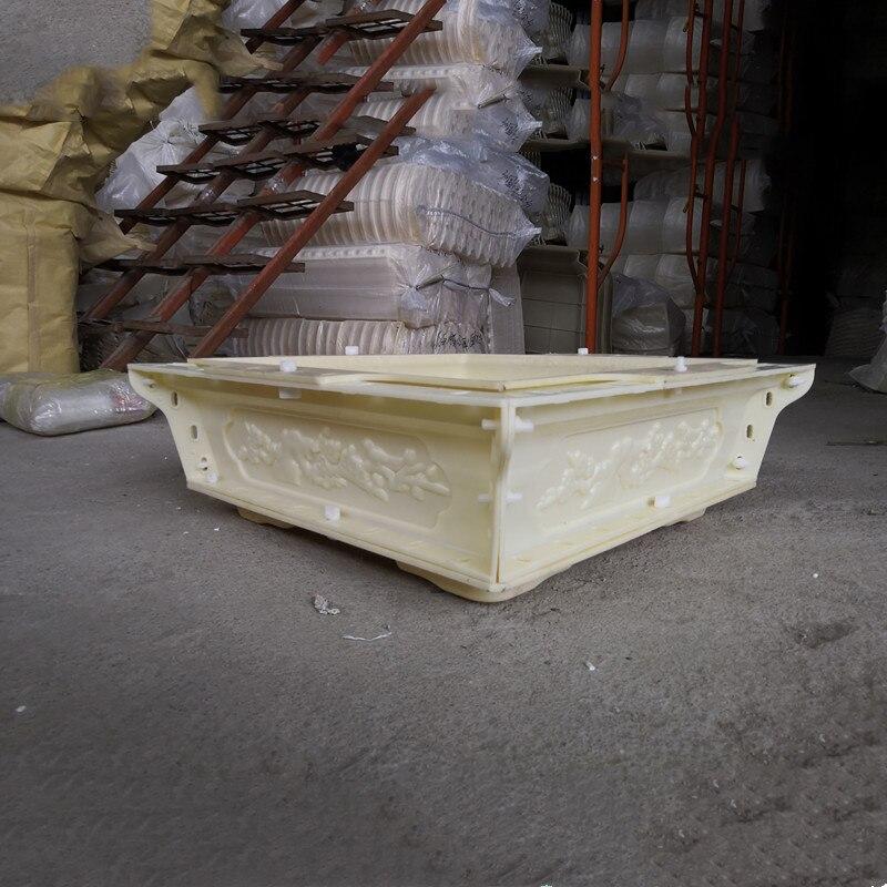 60 cm/23.62in Flessibile Caratteri Cinesi di Plastica Semplice Casa Giardinaggio Bonsai FAI DA TE di Cemento Vaso di Fiori Piazza Fioriera Muffa - 4