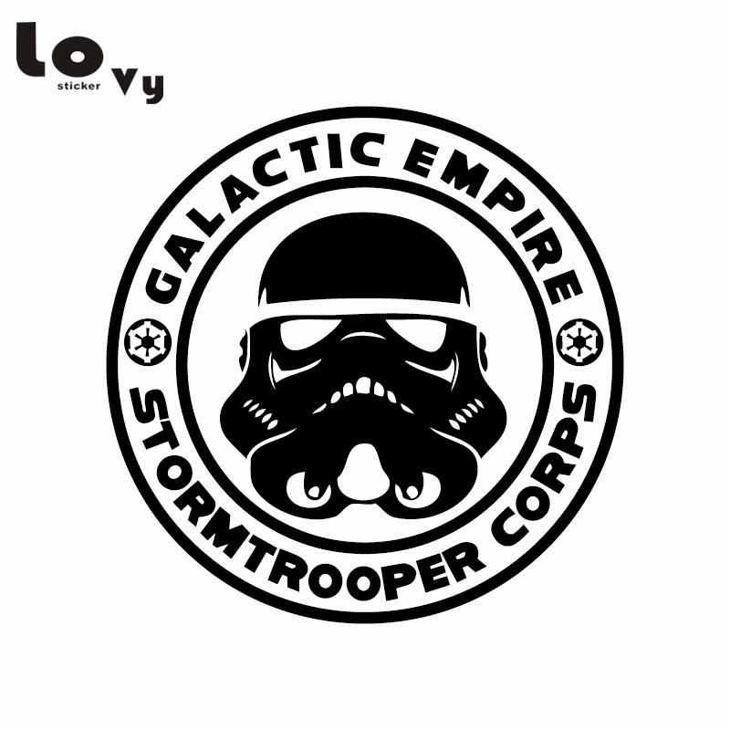 Classic Film Star Wars Car Sticker Stormtrooper Decorative Empire Vinyl Car Decal