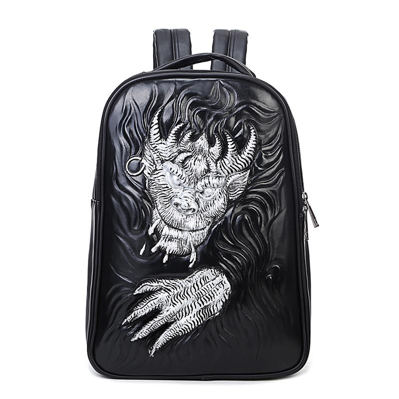 Women Backpack 2018 Newest Stylish Cool Black PU Leather Dragon Backpack Female Hot Sale Women Bag In Stock Fast Shipping backpack women 2017 newest stylish cool faux suede small backpack female hot selling women bag sac a dos rugzak fast shipping