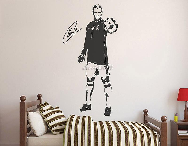 Aliexpresscom Buy Sport Soccer Vinyl Wall Stickers Custom Size - Custom removable vinyl wall decals