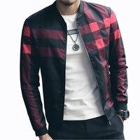 Hotsale Plaid Jacket Men Bomber Jacket Fashion Slim Mens Jackets And Coats Chaquetas Hombres Jaquetas Bomber
