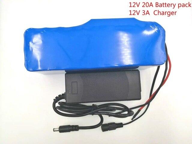 12 V 20Ah 18650 Batterie Au Lithium 12.6 V 20000 mAh Capacité Mineur Lampe 35 W 55 W Lampes Au Xénon Batteries + 12 V 3A chargeur de batterie