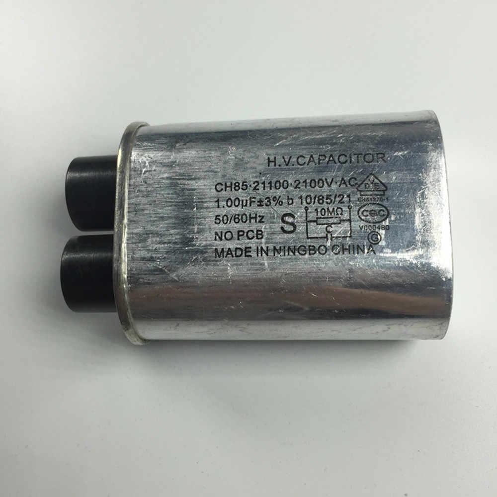 1x Forno A Microonde Ad alta Tensione Sul Condensatore 1.0UF Per La misura Galanz Midea Panasonic LG