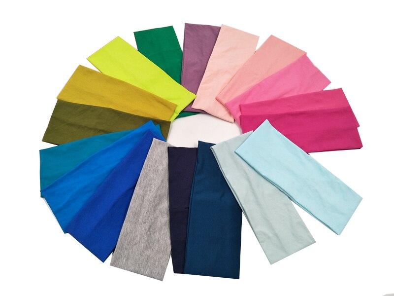 P17101 Solid Knitted Cotton Plain Yoga Headband Headwrap Custom