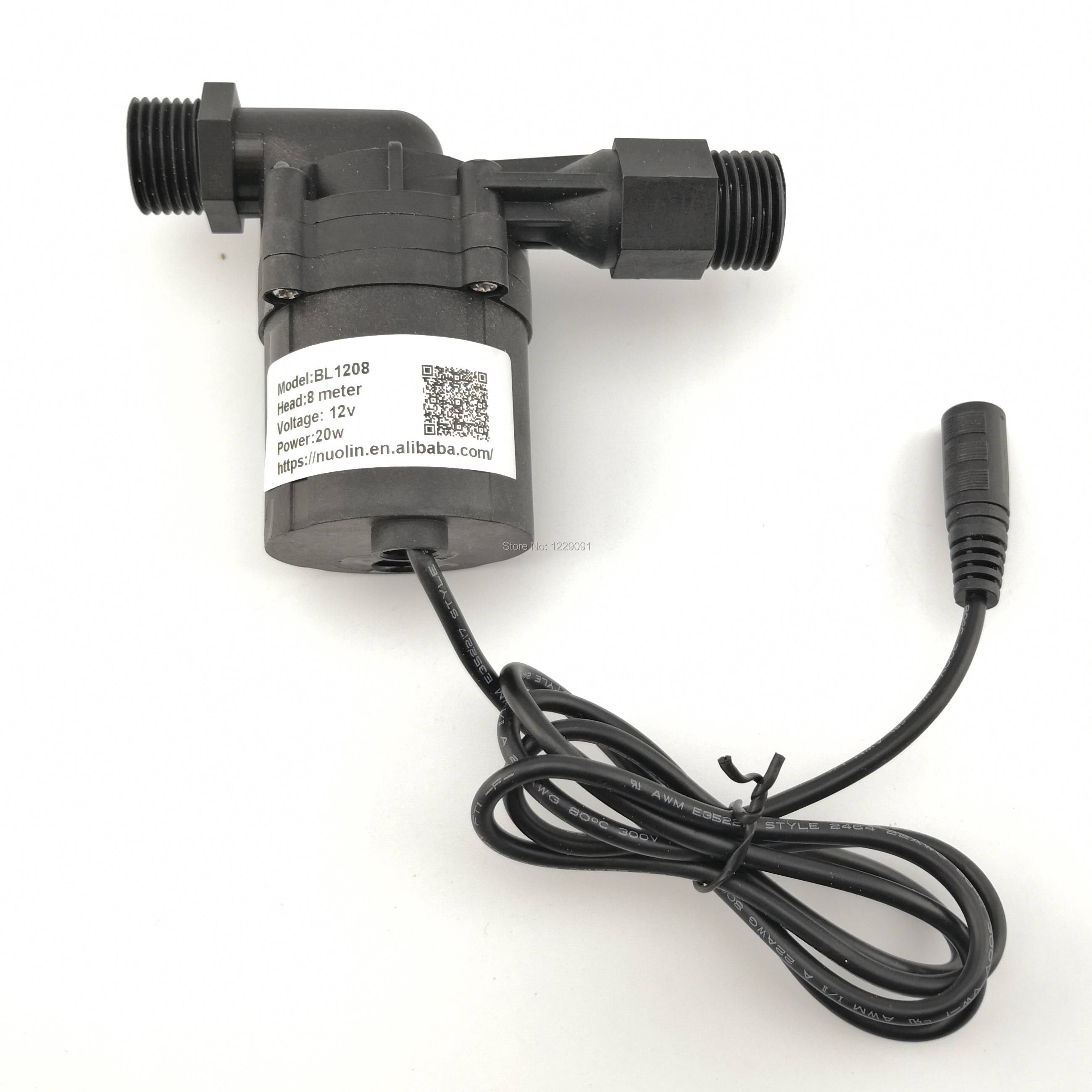 1pcs 20w DC <font><b>12V</b></font> 8M <font><b>water</b></font> heater booster <font><b>Pump</b></font> brushless Motor <font><b>Water</b></font> <font><b>Pump</b></font> circulation <font><b>pump</b></font> <font><b>submersible</b></font> image
