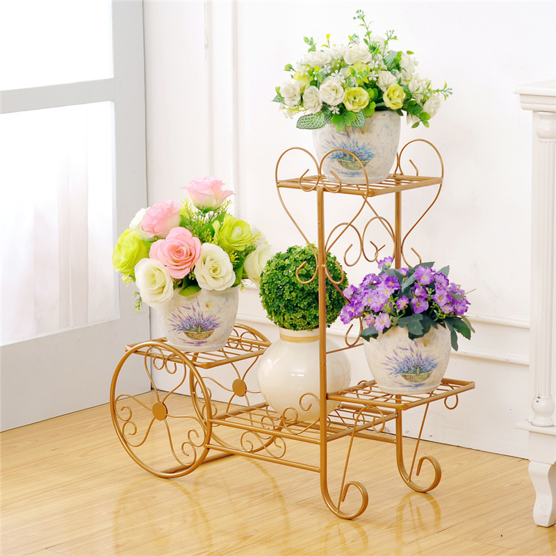 multifunctional iron living room modern indoor balcony European style green flower shelf decoration shelves flowerpot rack lang qing court iron creative flower green dill multilayer wooden living room interior floor spider showy flower pots