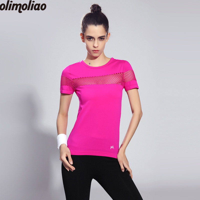 Vest Workout Crop Top Female T-shirt Sexy Fitness Tight Sport Yoga Shirt Dry Fit Short sleeve Sportswear Blouses Running