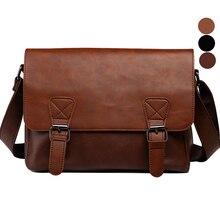 Сумка Для мужчин кожа Сумки через плечо Винтаж чёрный; коричневый сумка Flap Повседневное Bolso Hombre Bolsa masculina SAC основной
