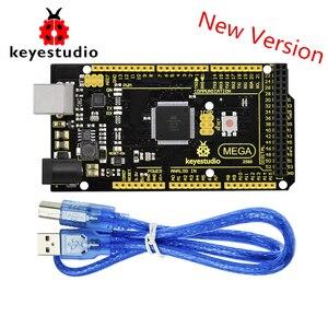 Image 1 - New Keyestudio Super Mega 2560 R3 Advanced  5V 2A MP2307DN SOP 8 +USB Cable For Arduino Mega
