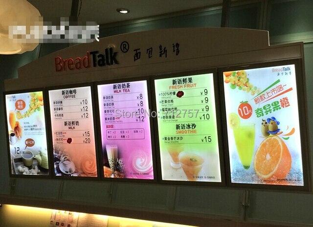 clip frame super slim led menu board in advertising lights from