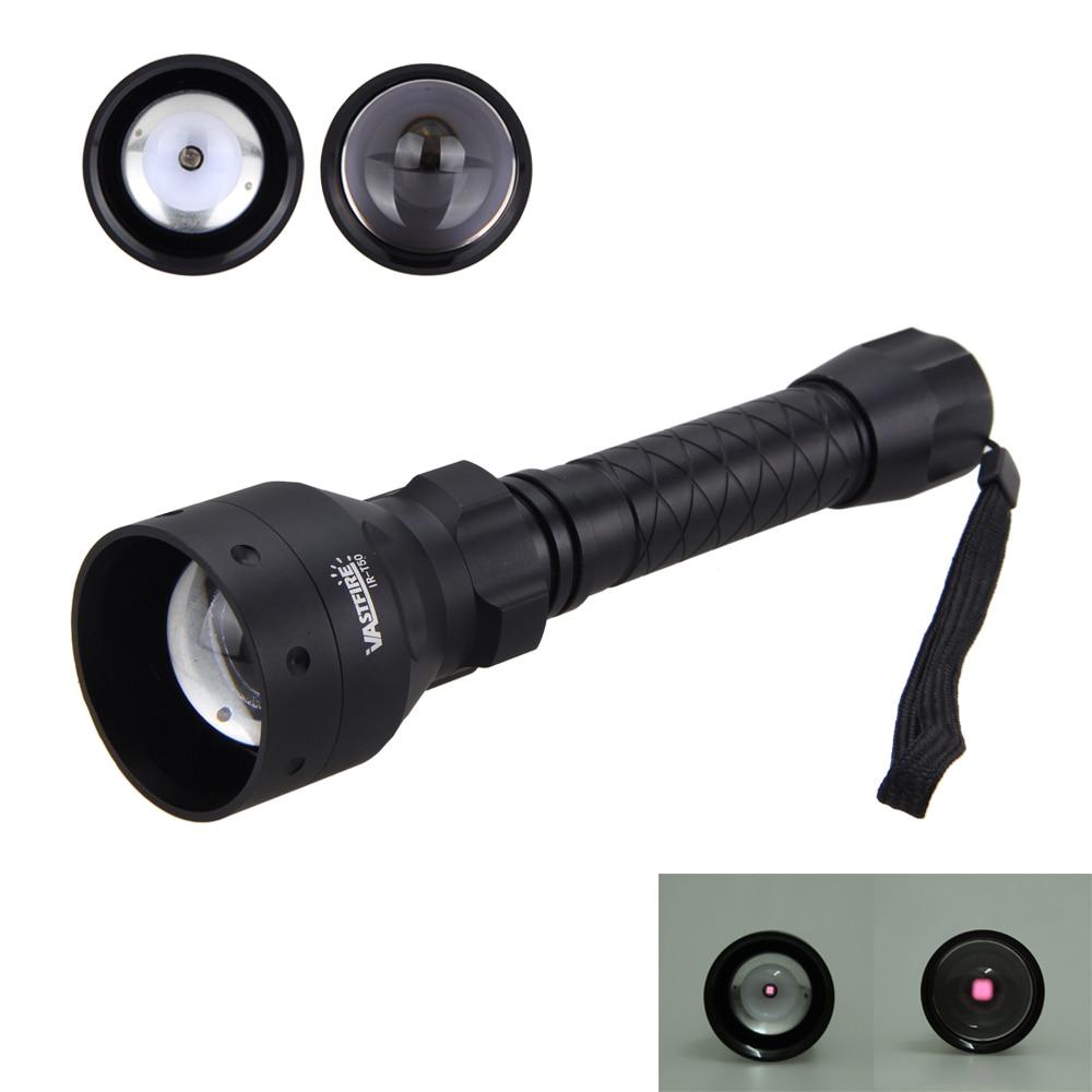 LED lampe de Poche Infrarouge IR 850nm Rouge Nuit Vision 1200lm Torche Lampe 1 MODE Puissant Étanche Portable Camping Lanternas Lumières