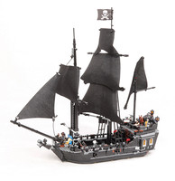 LEPIN 16006 16009 22001 Pirates Of The Caribbean 804PCS The Black Pearl Ship Building Kit Blocks