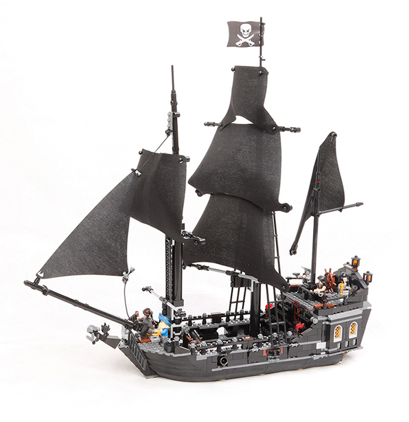 LEPIN 16006 16009 22001 Pirates Of The Caribbean 804PCS The Black Pearl Ship Building kit Blocks Bricks Toys Compatible 4184 lepin 16009 caribbean blackbeard queen anne s revenge mini bricks set sale pirates of the building blocks toys for kids gift