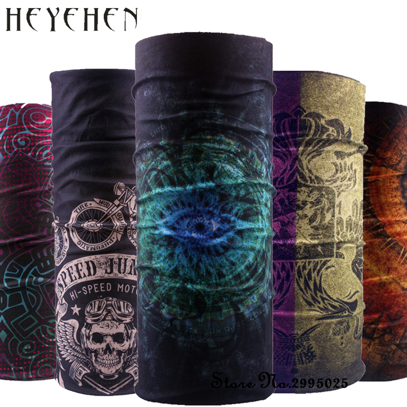 2018 Bandana Women Headband Scarf New Design Eyes Dustproof Multifunctional Seamless Tubular Headband Ring Scarf Mask Fack HY18