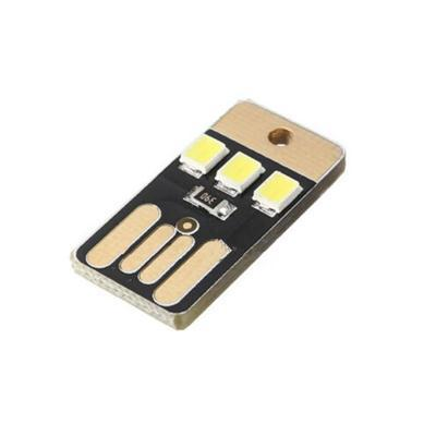 1PCS New Novetly Practical Pocket Card Lamp Bulb Led Keychain Mini LED Lighting Portable USB Power White