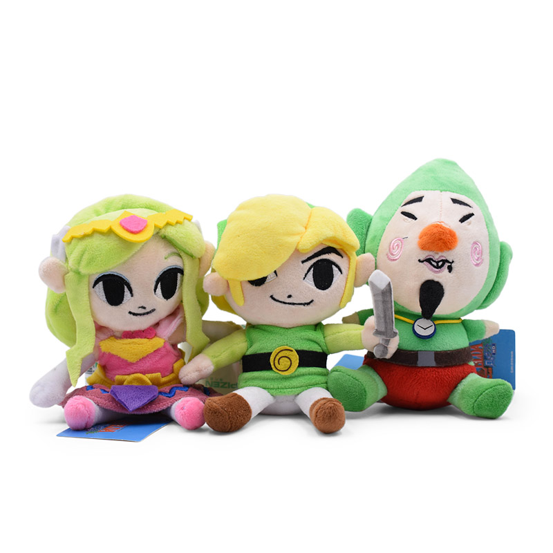 3 Styles Anime The Legend Of Zelda Link Tingle Princess Zelda Doll Plush Soft Stuffed Baby Toy Great Christmas Gift For Children