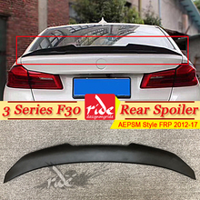 F30 Tail Spoiler rear Lip wing FRP Primer black AEPSM Style For BMW F30 318i 320i 325i 330i 335i rear trunk Spoiler wing 2012-17 black frp auto rear tail trunk lid boot spoiler lip wing for bmw e90 sedan 4 door 05 08 m3 320i 323i 325i 330i 335i csl style