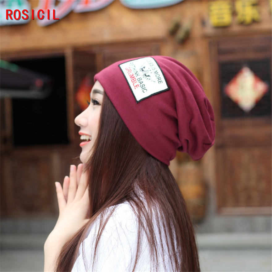ROSICIL Women's winter hat knitted wool beanies female fashion skullies casual caps thick warm hats for women rosicil skullies beanies winter hats for women letter beanies women hip hot caps skullies girls gorros women beanies female