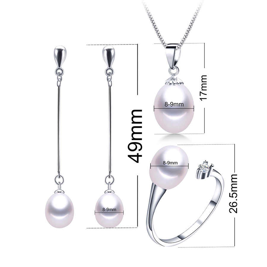 2019 Hot selling Black Pearl Jewelry sets Fashion 925 sterling silver jewelry for women wedding/party jewelry Lowest Price