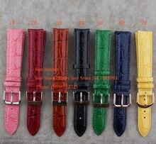 Rose rouge bracelet En Cuir Véritable bracelet 18mm Montre Accessoire Lumineux coloré Bracelets crocodile grain livraison gratuite
