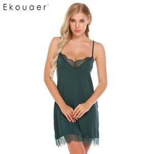 501ee616bc Ekouaer Women Sexy Nightgown Lingerie Dress Night Sleepwear
