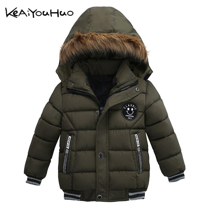 Keaiyouhuo новый зимний пуховик для мальчиков Повседневное хлопковое пальто Детская куртка детская хлопковая теплая верхняя одежда Пух пальто