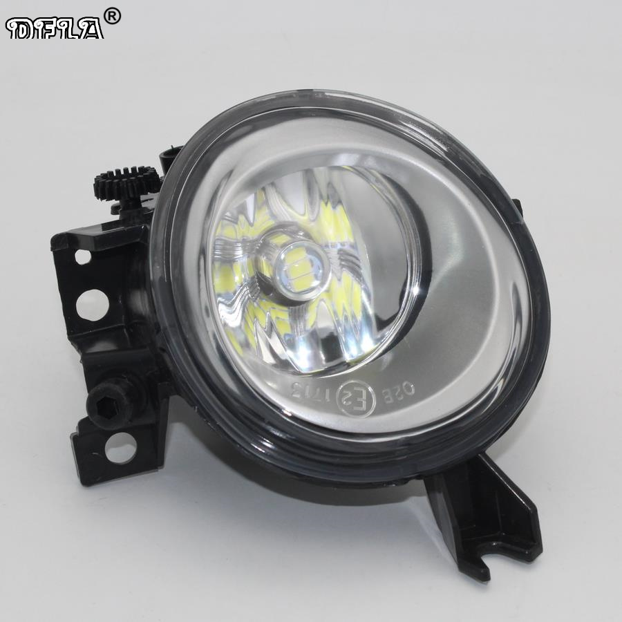 Right Side Car LED Light For VW Touareg 2003 2004 2005 2006 2007 2008 2009 2010 Car-styling Front LED Car Fog Light Fog Lamp front bumper fog lamp grille led convex lens fog light angel eyes for vw polo 2001 2002 2003 2004 2005 drl car accessory p364