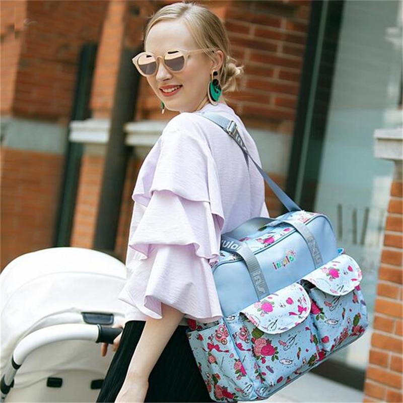 HTB1ErwBLHvpK1RjSZFqq6AXUVXaQ Mummy Maternity Nappy Bag Stroller bolsa Large Capacity Baby Travel Backpack Mommy Nursing Bag Baby Care Changing Diaper Bag
