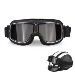 Motorcycle Helmet Goggles Vint