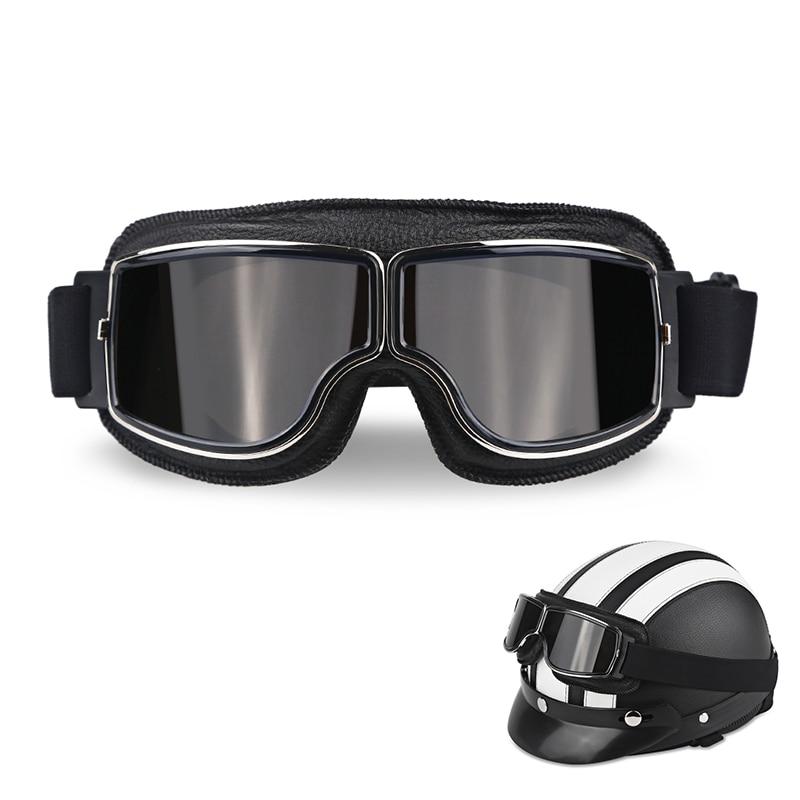82b6d7760 Capacete da motocicleta Óculos de Proteção Piloto Do Vintage Motociclista  Moto Scooter Aviador Retro Óculos Dobráveis Óculos de Proteção Engrenagem