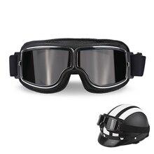 Casco moto Occhiali D'epoca Pilota Aviator Moto Scooter Motociclista Retro Occhiali Pieghevole Equipaggiamento Protettivo Occhiali
