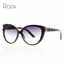 ROZA Free Shipping Brand cat eye sunglasses women hot selling sun glasses vintage Eyewear Oculos UV400 QC0163