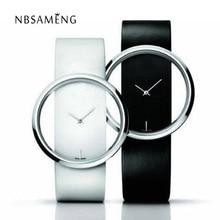 Большой набор прозрачным Hollow Скелет Простой наручные часы Для мужчин Для женщин Часы модные Повседневное кожа пару Таблица платье часы LZ034
