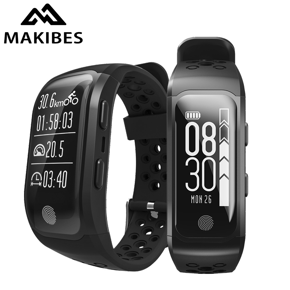 Makibes G03 GPS Smart Wristband Sports Band Built-in GPS Chip Heart Rate Monitor Sleep Monitor IP68 Waterproof Fitness Tracker цена
