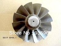 HX55V Rotor Turbine Shaft Wheel 80mm 86 1mm Turbo Parts AAA Turbocharger Parts