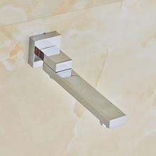 Chrome Polished Bathroom Tub Faucet Single Handle Mixer Tap Swivel Spout Mixer Tap
