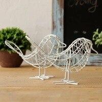 2017 Tel kuş Metal meslekler Küçük Hayvan Süsler Birdie Bahçe Dekorasyon Fotoğraf sahne oturma odası Ev Dekorasyon 1 adet