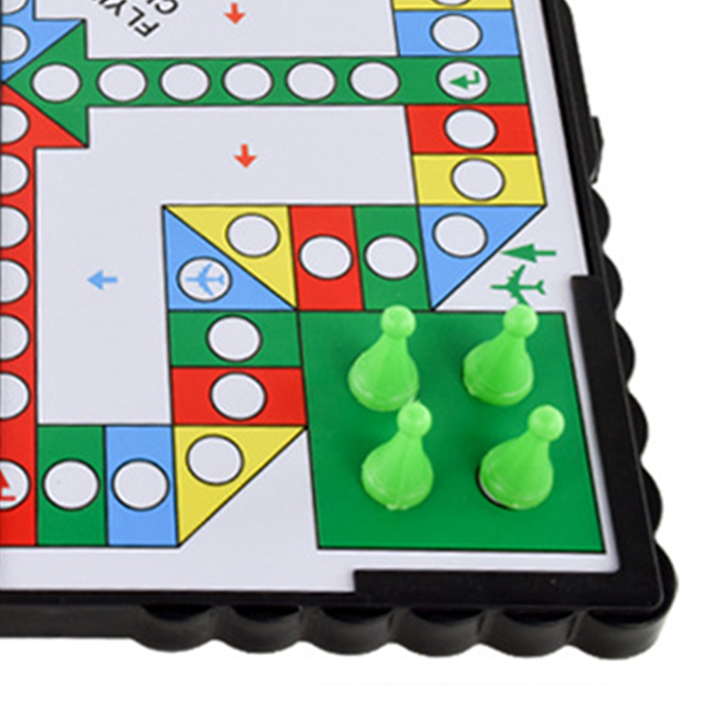 Mini Magnetic Foldable Flying Chess Crawling Mat Ludo Portable Board Game Camping Travel Game Set Fast Dispatch 21*21*2cm
