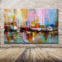 Frameless Pictures 100 Hand Painted Modern Abstract Oil Paintings On Canvas Wall Art Pictures For Home