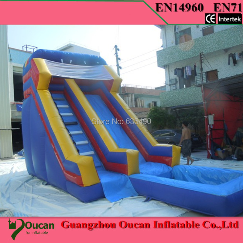 Inflatable Water Slides For Sale: 9x4x5m PVC Tarpaulin Children Inflatable Water Slide With