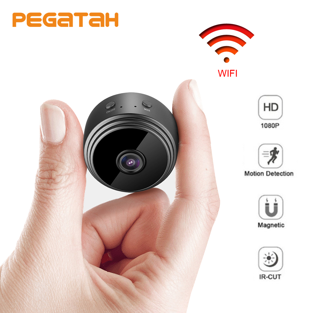 Hot sale 1080P Wireless MINI Camera WIFI P2P Support Motion Detectio Max 128G Micro TF Card Storage CCTV  Surveillance Cameras-in Surveillance Cameras from Security & Protection    1