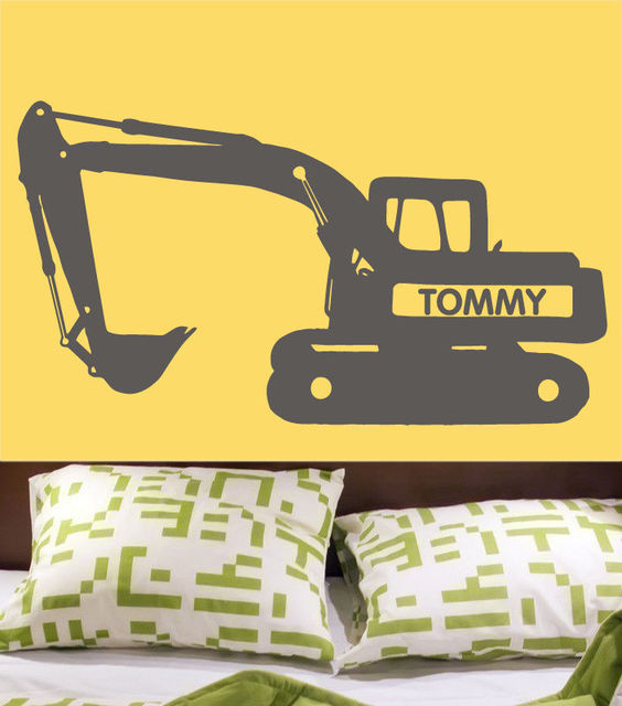 Aliexpresscom  Buy Custom Vinyl Wall Decal Bulldozer Excavator - Custom vinyl wall decal equipment