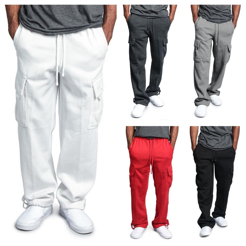 Pants Straight Trousers Sweatpants Multi Pocket Pants Mens Woven Fabric Casual Hot Straight Leg Jeans Pockets Male Casual Mens Jogger Harem Pants