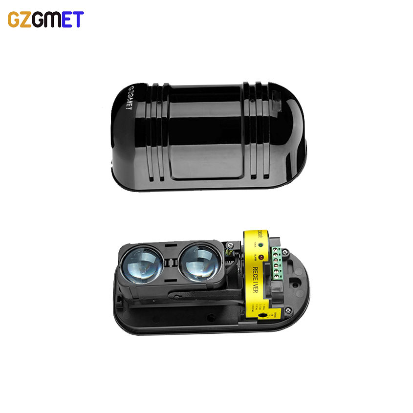GZGMET IP55 Watreproof  Wired 100M Alarm System Dual Beam IR SENSOR Bulgar Photoelectric Infrared Beam Detector mo materials co2 laser lens mirrors 20mm diameter 95% reflecting rate