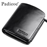 Padieoe High Quality Men Cowhide Wallet Genuine Leather Brand Credit Card Wallet Large Capacity Men's Wallet Free Shipping