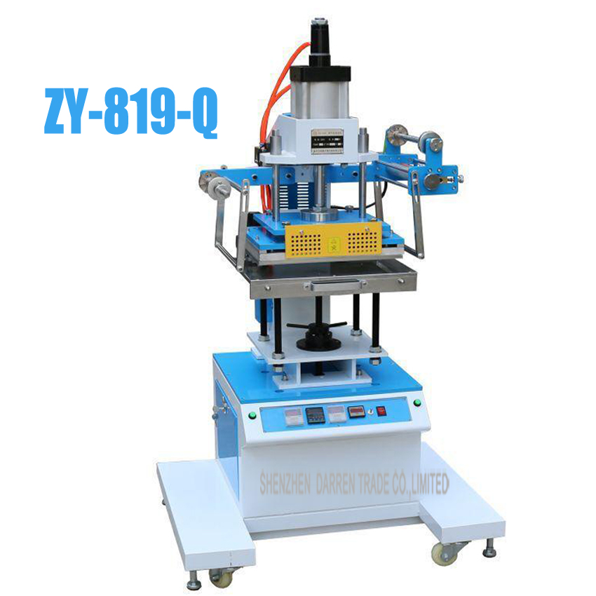 1set New  Pneumatic Hot Foil Stamping Machine 2.5kw ZY-819-Q 300*400mm Printable Area hot stamping machine hot foil pneumatic stamping press logo printer for leather paper etc customized printable area zy 819b
